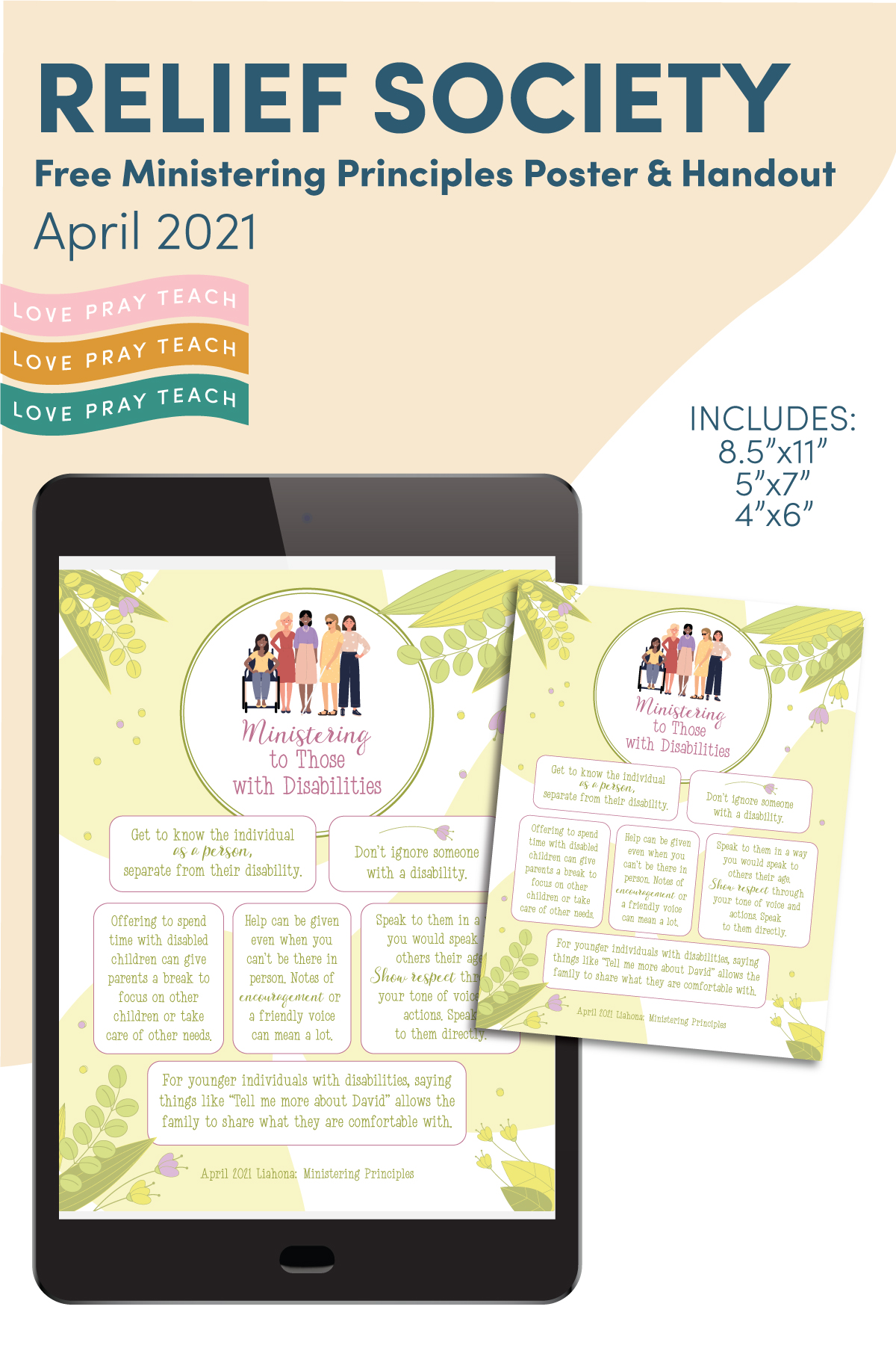 April 2021 Free Ministering Printables www.LovePrayTeach.com