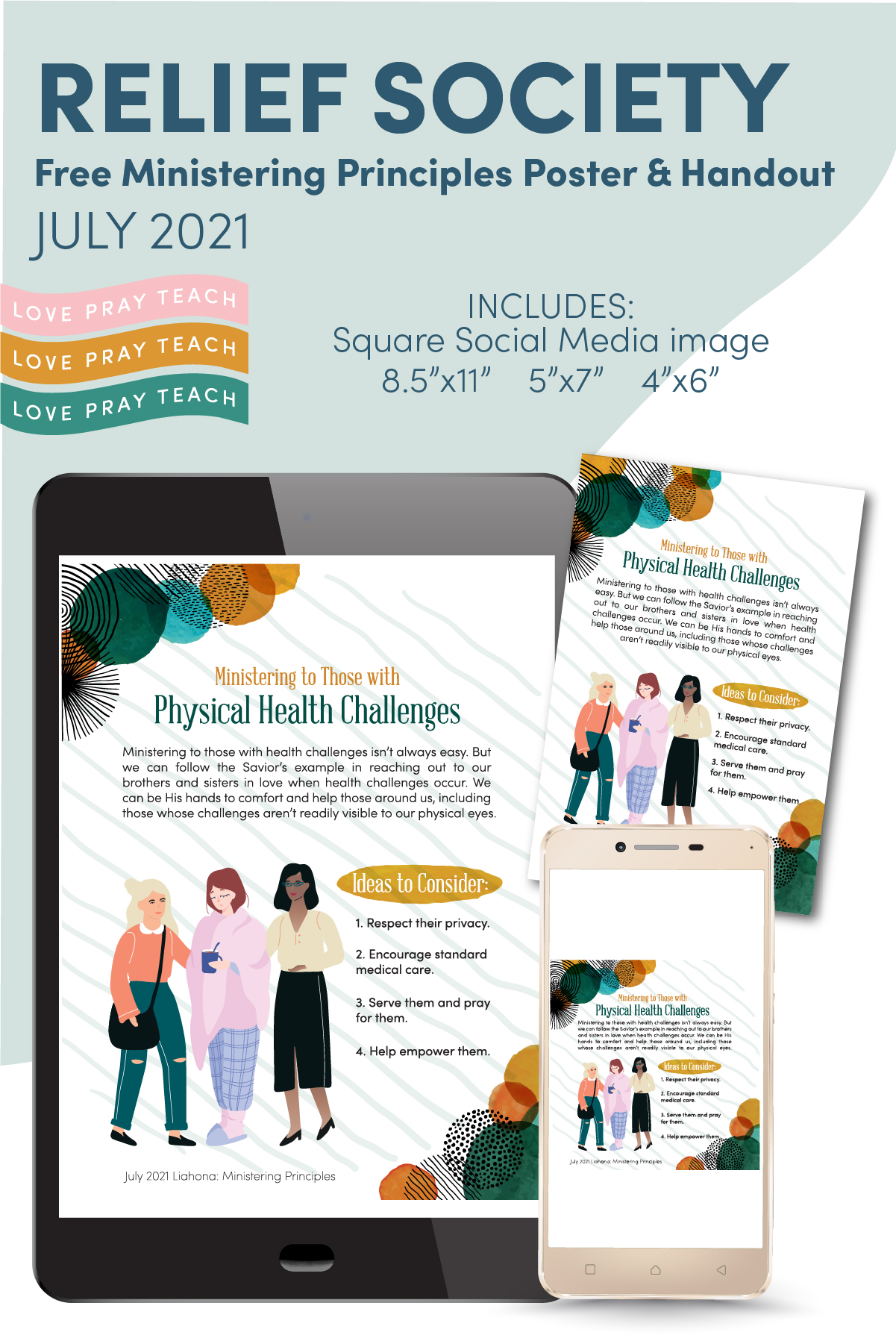 July 2021 Ministering Principles Graphics www.LovePrayTeach.com